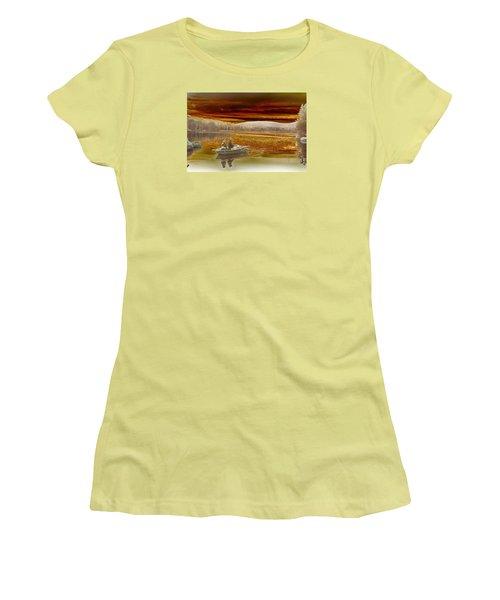 Seyon Sunset Women's T-Shirt (Junior Cut) by Paul Miller