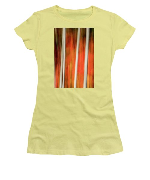 Women's T-Shirt (Junior Cut) featuring the photograph Shades Of Amber And Marmalade  by Dustin LeFevre