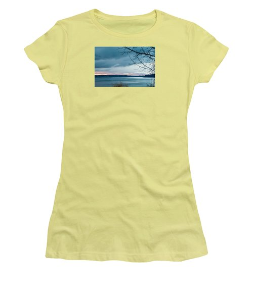 Shades Of Blue As Night Falls Women's T-Shirt (Athletic Fit)