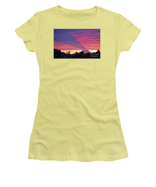Women's T-Shirt (Junior Cut) featuring the photograph Shadow Of Mount Rainier by Sean Griffin