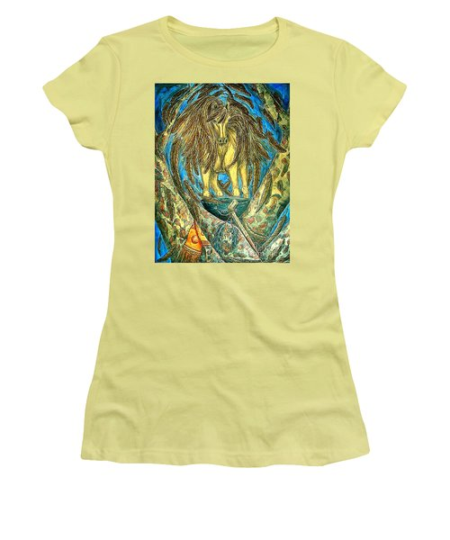 Shaman Spirit Women's T-Shirt (Junior Cut) by Kim Jones