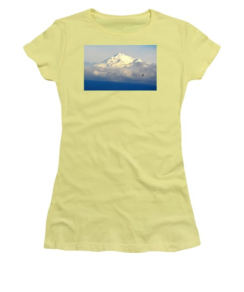 Shasta Near Sunset Women's T-Shirt (Athletic Fit)
