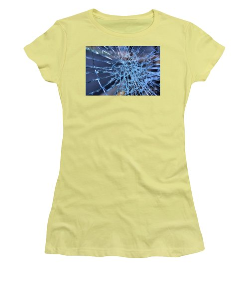 Shattered Glass In Color Women's T-Shirt (Athletic Fit)