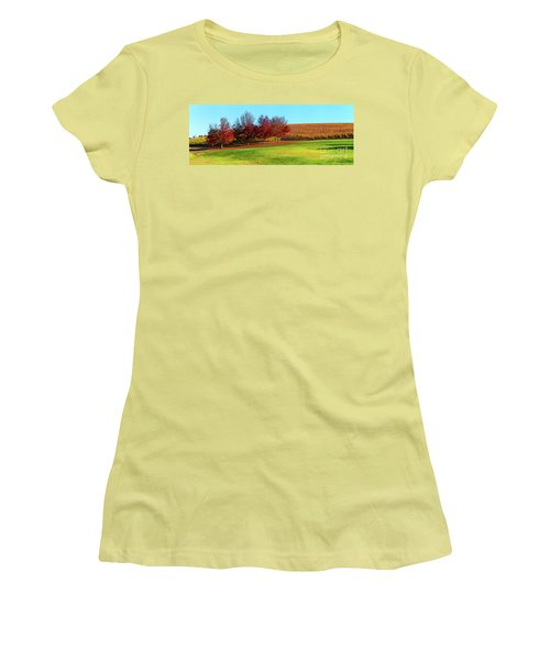 Shaw And Smith Winery Women's T-Shirt (Junior Cut) by Bill Robinson