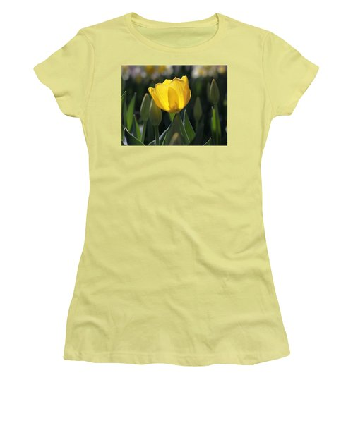 Sheer Yellow Women's T-Shirt (Athletic Fit)