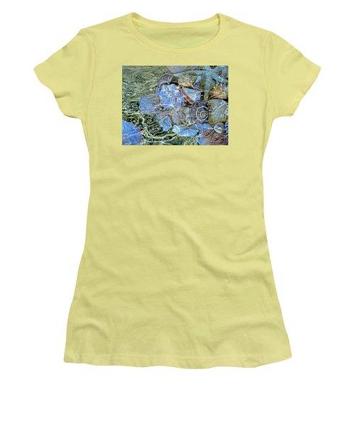 Shells Underwater 20 Women's T-Shirt (Junior Cut) by Lynda Lehmann