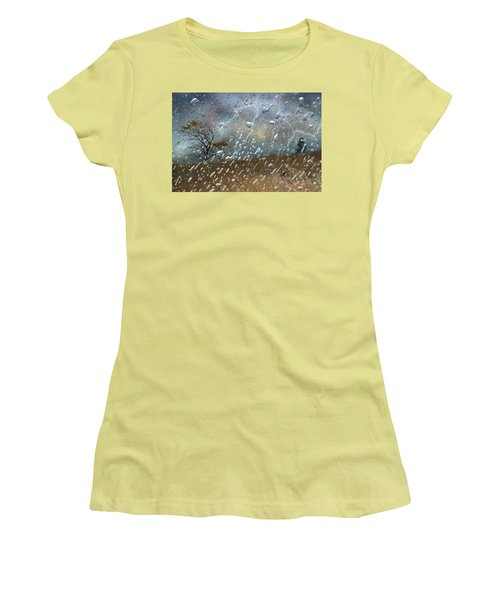 Shelter From The Storm Women's T-Shirt (Junior Cut) by Ed Hall