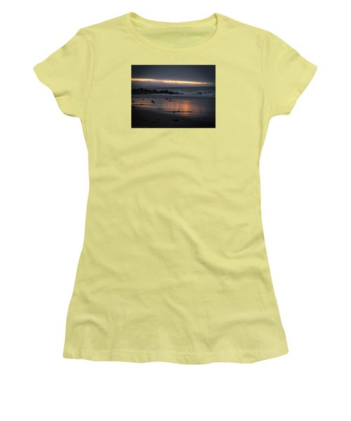 Women's T-Shirt (Junior Cut) featuring the photograph Shining Sand by Lora Lee Chapman