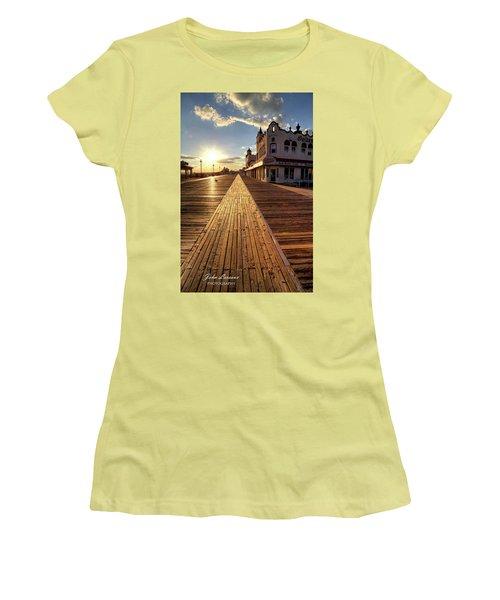 Shining Walkway Women's T-Shirt (Athletic Fit)