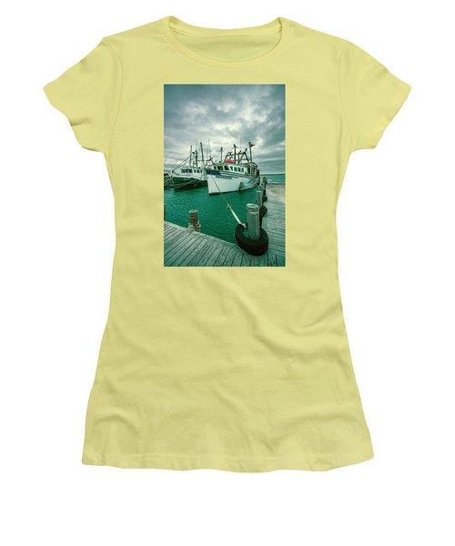 Shinnecock Fishing Vessels Women's T-Shirt (Athletic Fit)