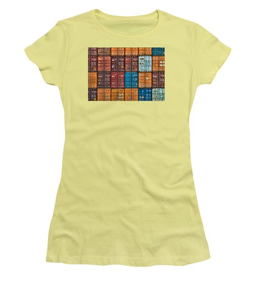 Shipping Containers Women's T-Shirt (Athletic Fit)