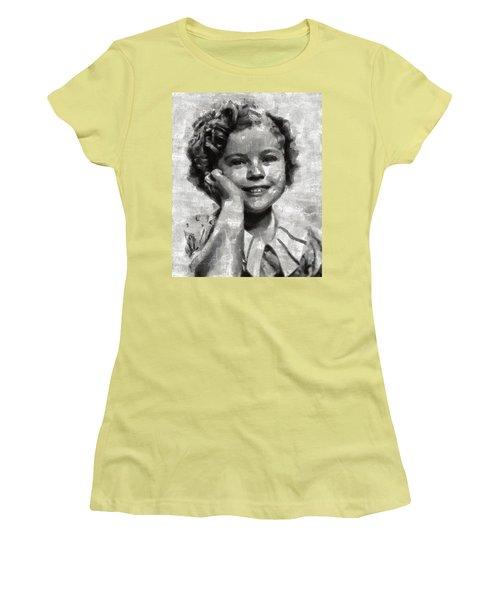 Shirley Temple By Mary Bassett Women's T-Shirt (Junior Cut) by Mary Bassett