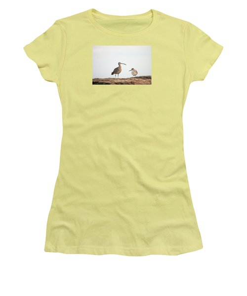 Women's T-Shirt (Junior Cut) featuring the photograph Shorebirds Of Windansea Beach by Bruce Patrick Smith
