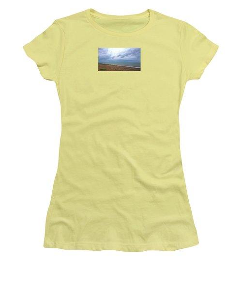 Women's T-Shirt (Junior Cut) featuring the photograph Shoreham Shoreline by Anne Kotan