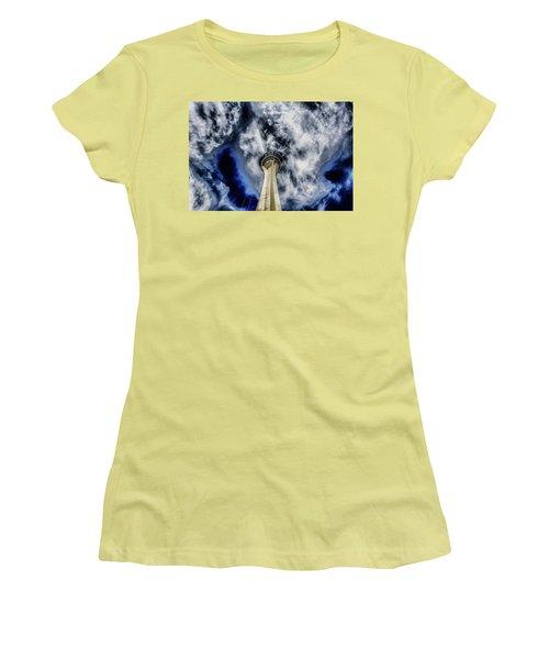 Shout Women's T-Shirt (Junior Cut) by Michael Rogers