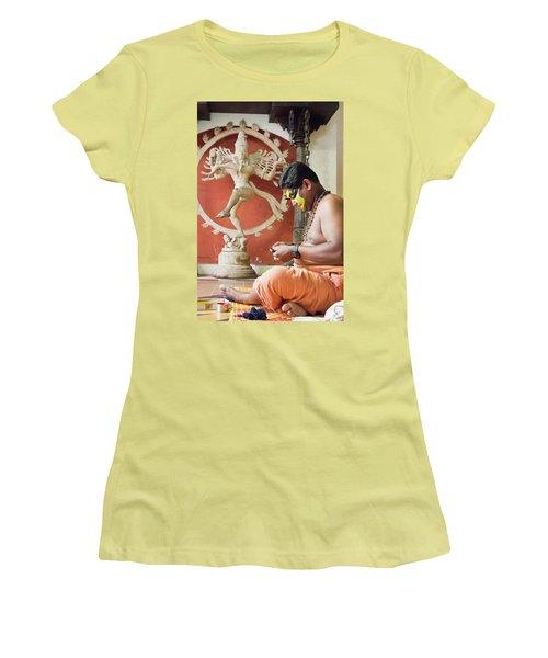 Kathakali Make-up Women's T-Shirt (Junior Cut) by Marion Galt