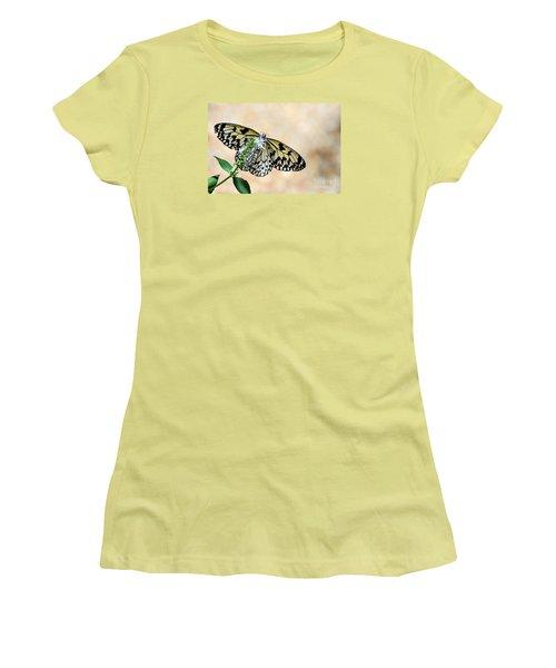 Showy Nymph Women's T-Shirt (Junior Cut) by Debbie Green