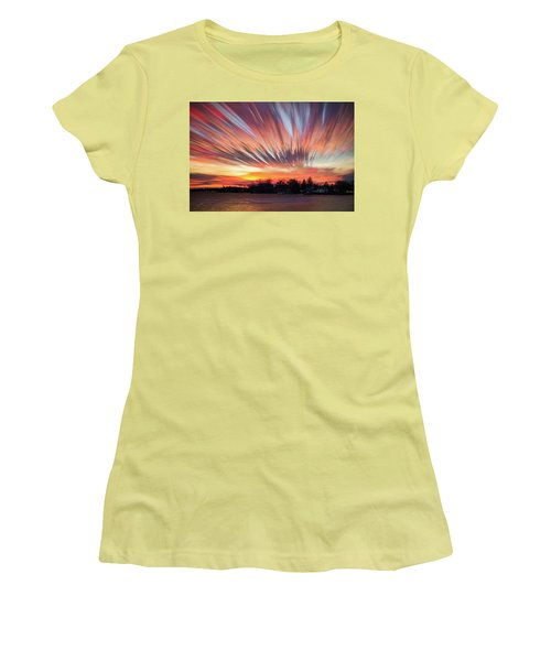 Shredded Sunset Women's T-Shirt (Athletic Fit)