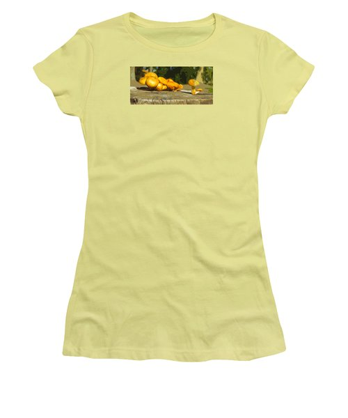 Shrooms On A Stump Women's T-Shirt (Athletic Fit)