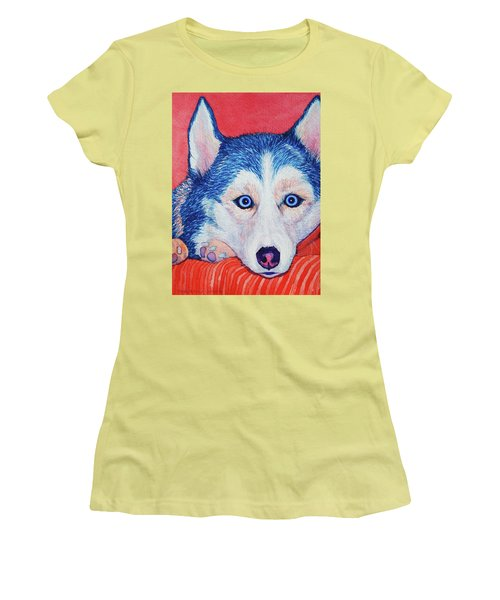 Siberian Husky Women's T-Shirt (Athletic Fit)