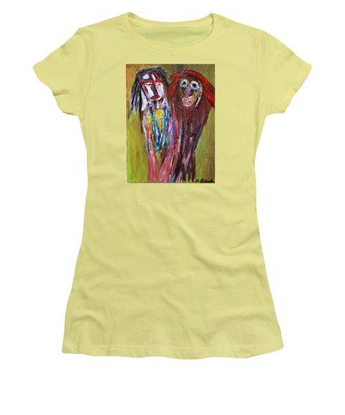 Siblings   Women's T-Shirt (Junior Cut) by Darrell Black
