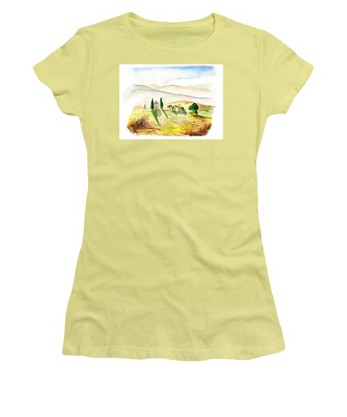 Siena. Italy Women's T-Shirt (Athletic Fit)