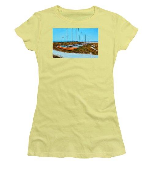 Siesta Key Access #8 Catamarans Women's T-Shirt (Junior Cut) by Lloyd Dobson