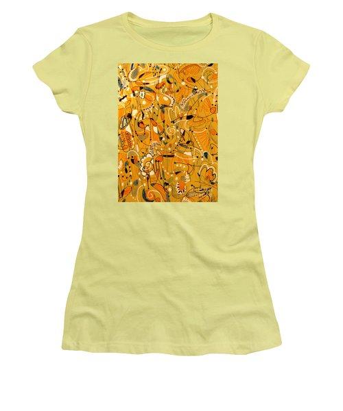 Signs Written In Big Print Women's T-Shirt (Junior Cut) by Nancy Kane Chapman