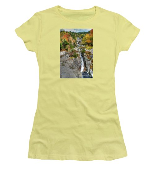 Silver Cascade Waterfall Women's T-Shirt (Athletic Fit)