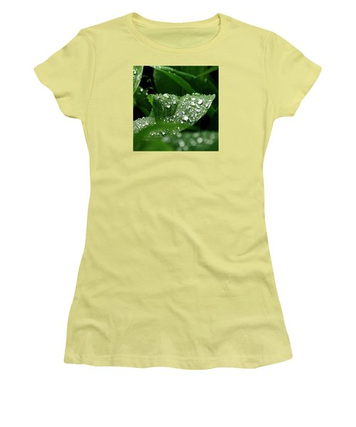 Women's T-Shirt (Junior Cut) featuring the photograph Silver Drops Of Spring by Al Fritz