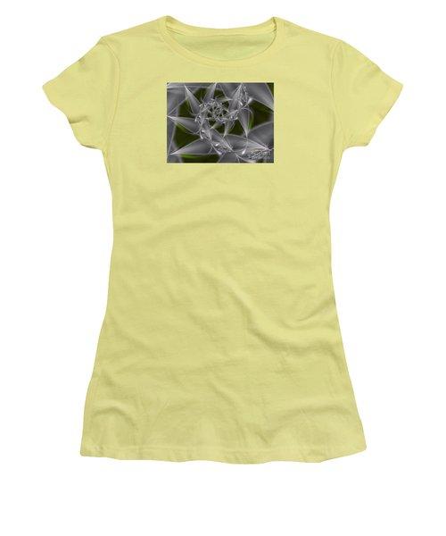 Women's T-Shirt (Junior Cut) featuring the digital art Silverleaves by Karin Kuhlmann