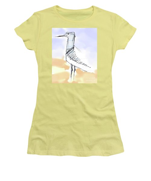 Women's T-Shirt (Athletic Fit) featuring the drawing Simon by Carolyn Weltman