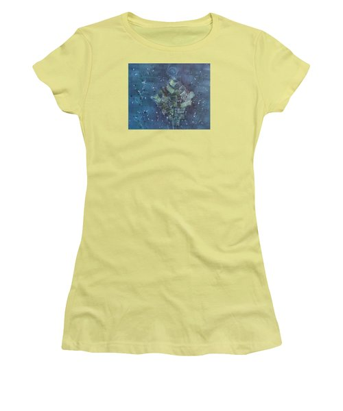 Simpleness Is Happiness Women's T-Shirt (Junior Cut) by Min Zou