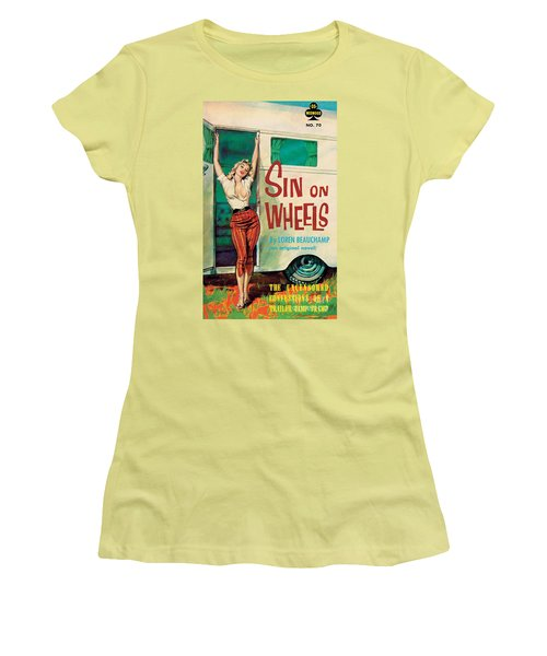 Sin On Wheels Women's T-Shirt (Athletic Fit)