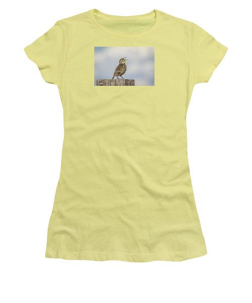 Singing A Song Women's T-Shirt (Junior Cut) by Thomas Young