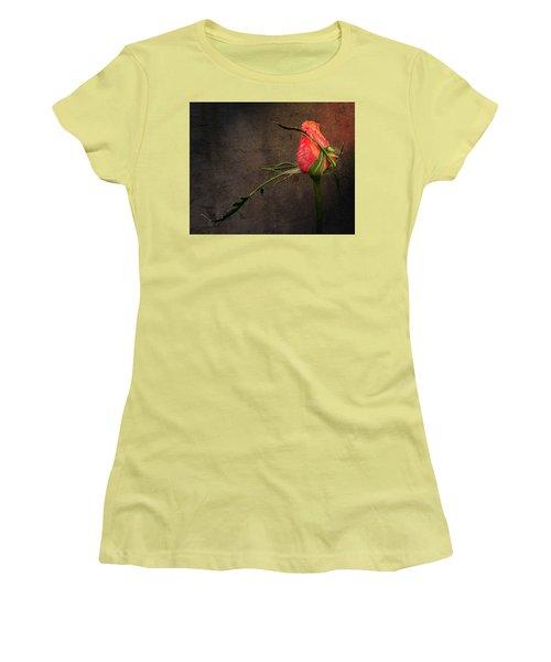 Single Rose Women's T-Shirt (Junior Cut) by Ann Lauwers