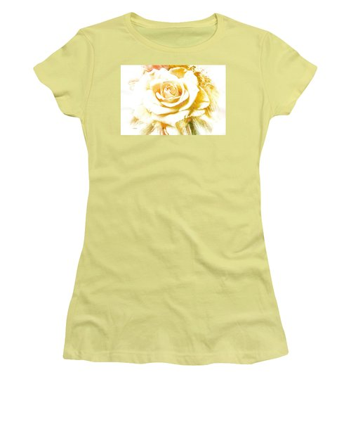 Single Rose Women's T-Shirt (Athletic Fit)