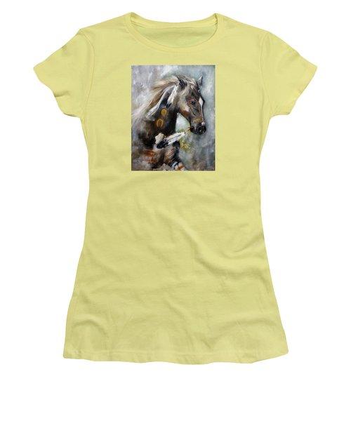 Sioux War Pony Women's T-Shirt (Junior Cut) by Barbie Batson