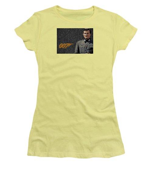 Sir Roger Moore Women's T-Shirt (Junior Cut) by Manjot Singh Sachdeva