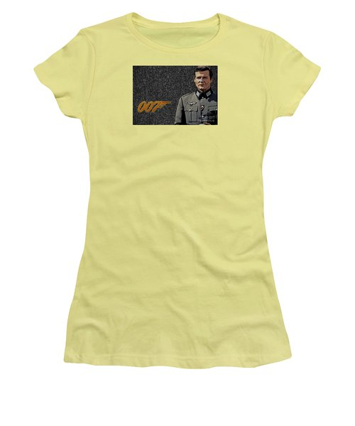 Sir Roger Moore Women's T-Shirt (Athletic Fit)