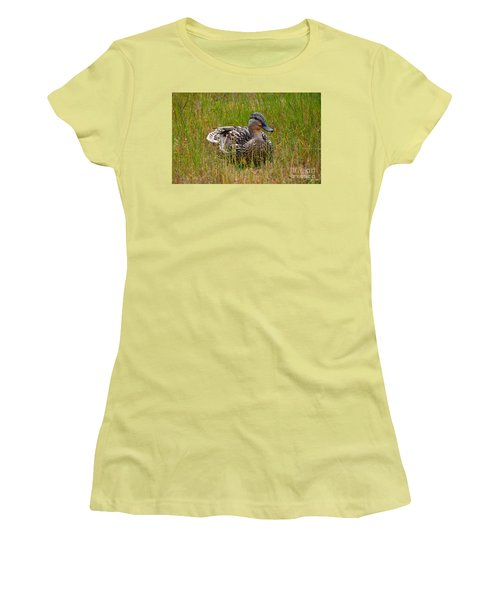 Sitting Duck Women's T-Shirt (Athletic Fit)