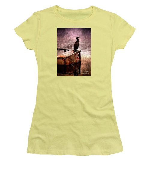 Sitting On The Dock Of The Bay Women's T-Shirt (Junior Cut) by Clare Bevan