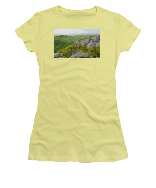 Women's T-Shirt (Athletic Fit) featuring the painting Sitting Pretty  by Joel Deutsch