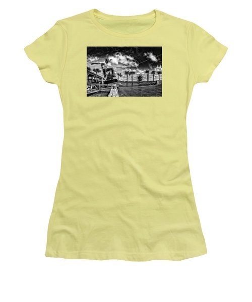 Skate Pushing The Boundries Women's T-Shirt (Junior Cut) by Kevin Cable
