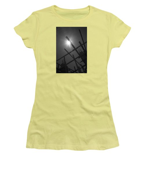 Women's T-Shirt (Junior Cut) featuring the photograph Skeleton  Time by Jez C Self