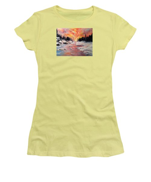 Skies Of Mercy Women's T-Shirt (Junior Cut) by Meaghan Troup