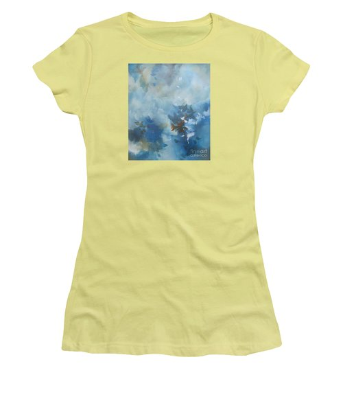 Women's T-Shirt (Junior Cut) featuring the painting Sky Fall I by Elis Cooke