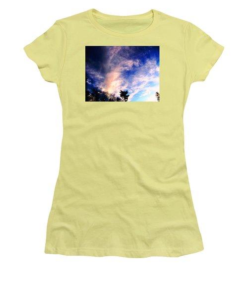 Women's T-Shirt (Junior Cut) featuring the photograph Sky Study 5 3/11/16 by Melissa Stoudt