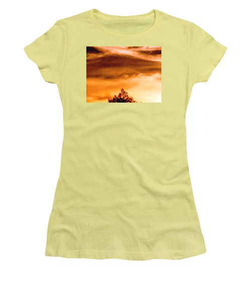 Women's T-Shirt (Junior Cut) featuring the photograph Eye Of Jupiter by Melissa Stoudt