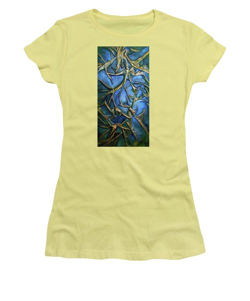 Sky Through The Trees Women's T-Shirt (Athletic Fit)